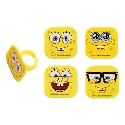 DECOPAC Spongebob Squarepants Mood Faces Cupcake Rings - 24 pcs