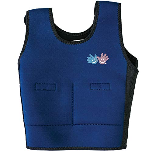 Fun and Function's Blue Weighted Compression Vest for Children Medium (Ages 9+) Helps Kids with Sensory Issues, Autism, ADHD, Mood, Sensory Over Responding, The Original Compression Vest for Kids
