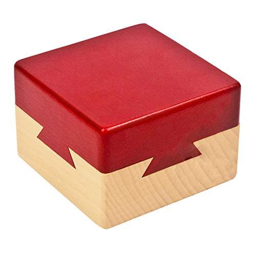 Blovec Impossible Dovetail Box Wooden Puzzle Brain Teaser Magic Drawers Gift Secret Compartment Brain Game for Adults