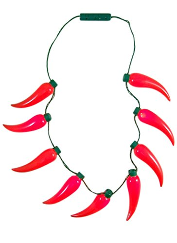 Gloworks Chili Pepper Light Up Fiesta Party Necklace Accessory