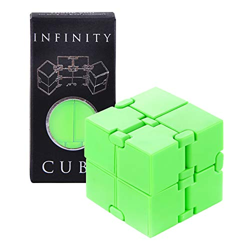 Mind Puzzle Fidget Cube for Kids and Adults, Stress and Anxiety Relief Brain Teasers for Hand and Wrist for Small Boys and Girls, Perfect Get Well Soon Infinity Cube Gift, Best Toy of 2018