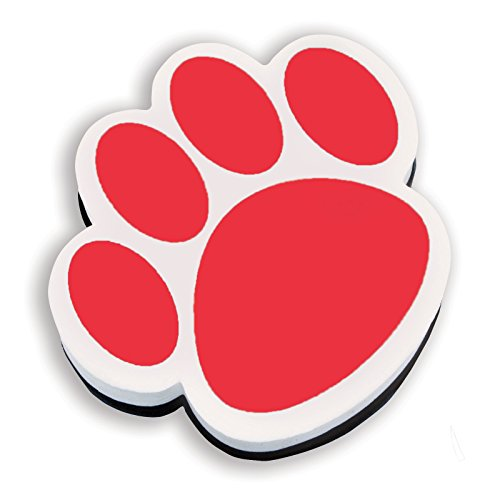 ASHLEY PRODUCTIONS Paw Magnetic Whiteboard Eraser, Red