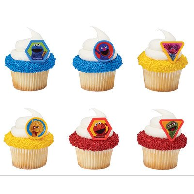DecoPac Sesame Street Giggle Together Cupcake Rings - 24 pc