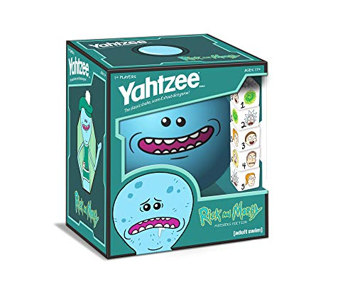 YAHTZEE Rick and Morty Meeseeks Edition | Shake, Score & Shout Yahtzee Dice Game | Officially Licensed Rick and Morty YAHTZEE Dice Game | Rick and Morty Merchandise