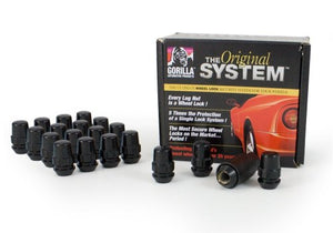 "Gorilla Automotive 71623NBC ""The System"" Acorn Black Chrome Wheel Locks (12mm x 1.25 Thread Size) - For 5 Lug Wheels"