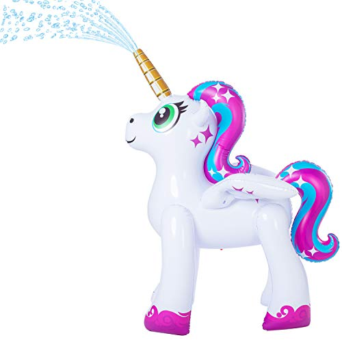 JOYIN Inflatable Unicorn Yard Sprinkler, Alicorn/ Pegasus Lawn Sprinkler for Kids (5.3 Feet)