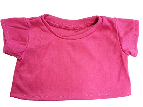 Heliconia Pink Basic T-Shirt Teddy Bear Clothes Fit 14