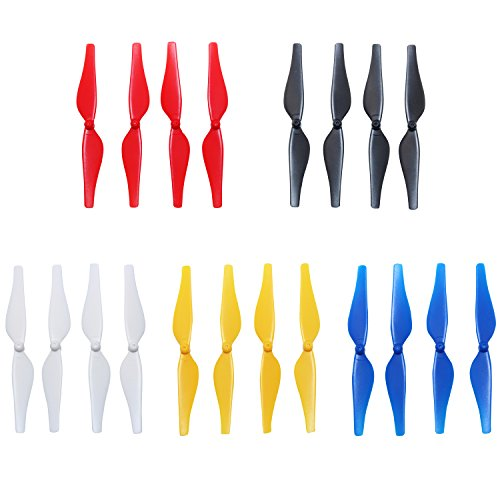 Anbee 5-Colors Propellers Colored Props Blades for Tello and Tello EDU Drone, Pack of 5 Set (Red/White/Blue/Black/Yellow)