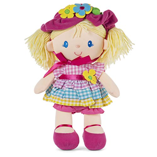 GUND April Springtime Dolly 13 Inch Plush Doll with Removable Bonnet and Dress