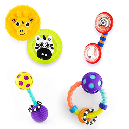 Sassy Infant Gift Set 0+ Months - 5 Piece Set with Different Rattles and Teethers
