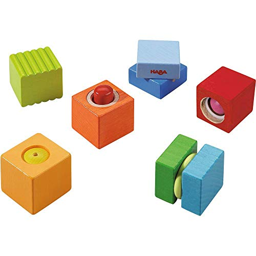 HABA Fun with Sounds Wooden Discovery Blocks with Acoustic Sounds (Made in Germany)