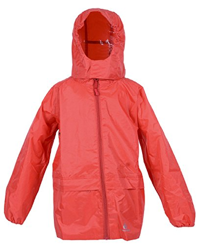 DRY KIDS - Packable Jacket 11-12 Yrs Bright Red