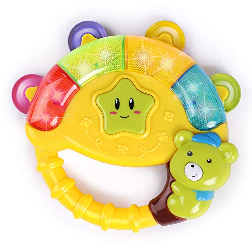 BAOLI Baby Bear Bell Toy with Music Song Light Yellow for Boys and Girls