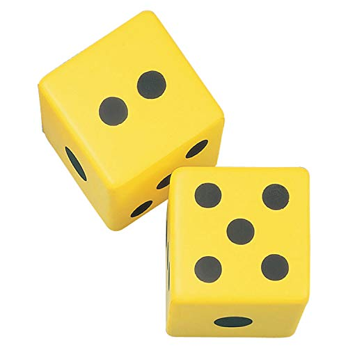 Champion Sports 6 Inch Coated Foam Dice (2 count)