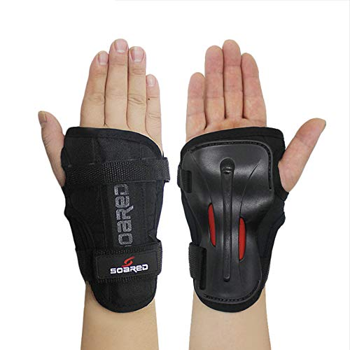 LALATECH Skiing Handguards Long Wrist Guards Roller Skating Hand Palm Skating Handguards Hard Hand Support Strong Protective Gear Skating Gloves (M)