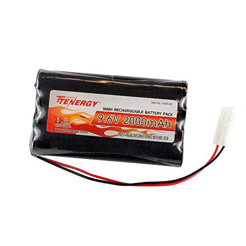Tenergy 9.6V�Flat NiMH Battery Packs�for RC Car, High Capacity 8-Cell�2000mAh Rechargeable Battery Pack,�Replacement�Hobby Battery Pack�with Standard Tamiya Connectors
