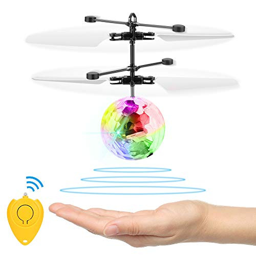 Flying Ball Toys, Amazingbuy RC Flying Toys for Kids Rechargeable Light Up Flying Ball Drone Infrared Induction Helicopter Ball with Remote Controller for Indoor and Outdoor Games