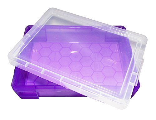 PlayTherapySupply Small Portable Sand Tray with Lid - Purple