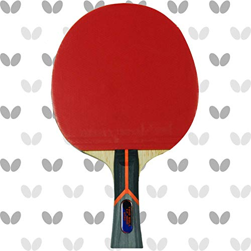 Butterfly Timo Boll Carbon Fiber Ping Pong Paddle | ITTF Approved Table Tennis Racket | Ping Pong Sponge and Rubber | Carbon Layers in Ping Pong Racket for Power | Professional Ping Pong Paddle, 1000 Model
