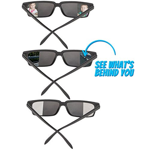 Bedwina Spy Glasses for Kids in Bulk - Pack of 3 Spy Sunglasses with Rear View So You Can See Behind You, for Fun Party Favors, Spy Gear Detective Gadgets, Stocking Stuffer Gifts for Boys and Girls