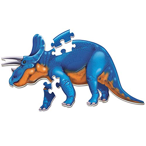 Learning Resources Jumbo Dinosaur Floor Puzzle, Triceratops, 20 Safe Foam Pieces, Ages 3+