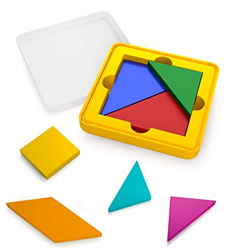 Osmo - Genius Tangram - Ages 6-10 - Use Shapes/Colors to Solve for Visual Puzzles (500+) - For iPad or Fire Tablet (Osmo Base Required - Amazon Exclusive)