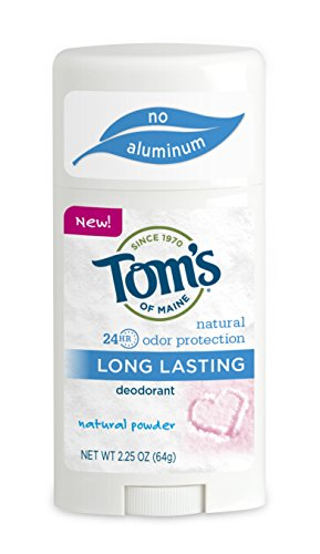 Tom's of Maine 683415 Powder Long-Lasting Deodorant Stick, 2.25 Ounce, 18 Count