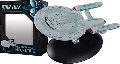 Eaglemoss Star Trek The Official Starships Collection #10: USS Enterprise NCC-1701C Ship Replica, Multi Color