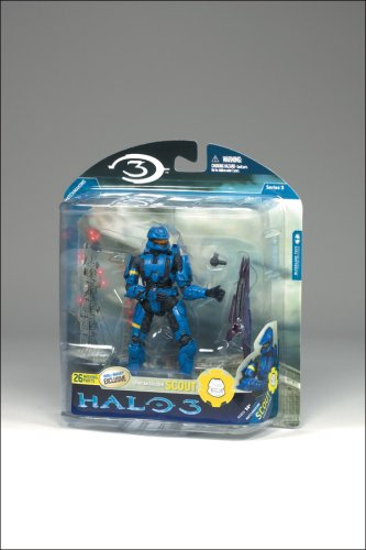 McFarlane Toys Halo 3 Series 3 Exclusive Action Figure Blue Spartan Soldier Scout