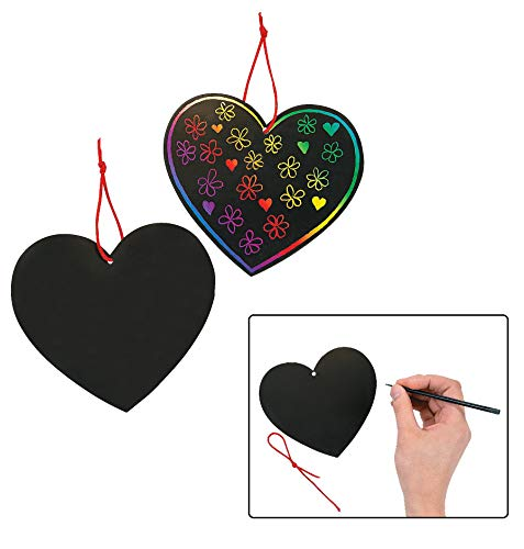 Magic Color Scratch Hearts (2Dz) - Crafts for Kids and Fun Home Activities
