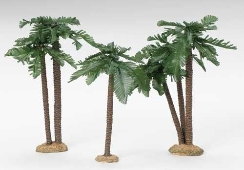 Fontanini 9-12 Inch High Palm Tree Set 56830