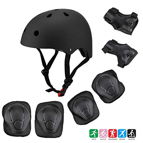 Kids Bike Helmet Toddler Helmet Adjustable Helmet for 3-8 Years Old Boys Girls Sports Protective Gear Set Knee Elbow Pads and Wrist Guards for Cycling Skateboard Scooter CPSC Certified