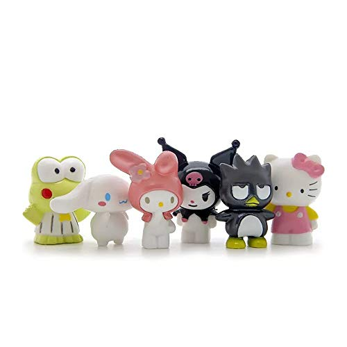 HanYoer 6 pcs Lovely Animal Characters Toys Figurines Playset, Garden Cake Decoration, Cake Topper