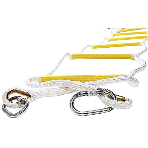 ISOP Indoor/Outdoor Rope Ladder 8 ft – Sturdy Exercise Rope Ladder – Climbing Hanging Rope for Kids & Adults – Rope Ladder for Swing Set