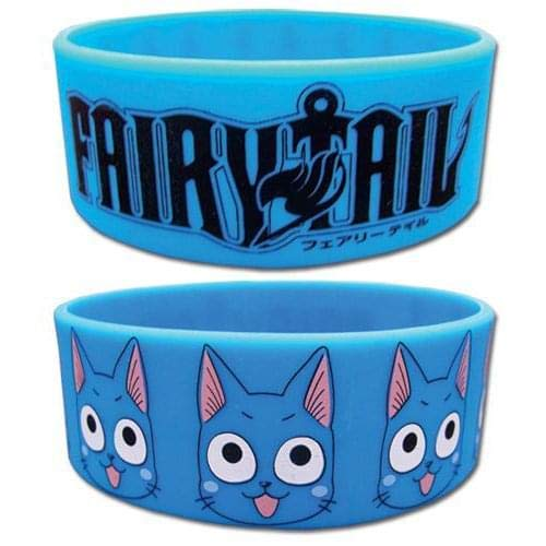 Fairy Tail Wristband - Happy and Logo