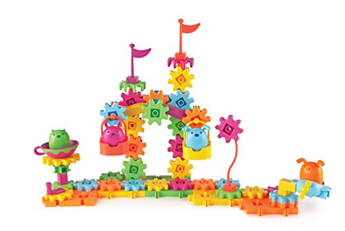 Learning Resources Gears! Gears! Gears! Pet Playland, Gears Toy, Building Set, 83 Pieces, Ages 4+