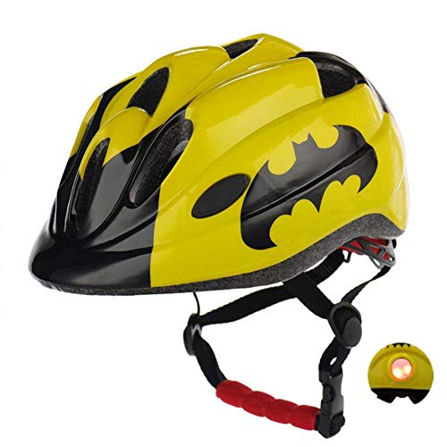 Atphfety Kids Bike Helmets,CPSC Certified,Adjustable Multi-Sport Safety Helmet with LED Light for Cycling Skate Scooter Roller (Bat)