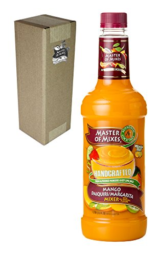 Master of Mixes Mango Daiquiri / Margarita Drink Mix, Ready to Use, 1 Liter Bottle (33.8 Fl Oz), Individually Boxed