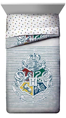 Jay Franco Witchcraft & Wizardry Twin/Full Comforter (Offical Harry Potter Product), Gray