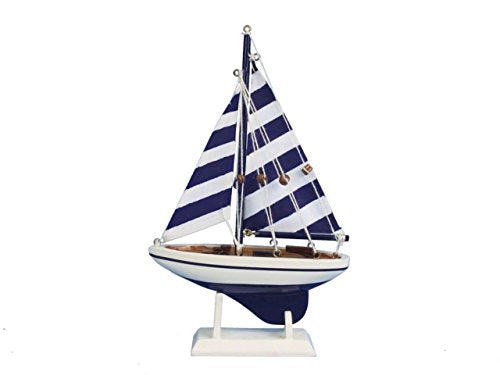 Hampton Nautical Blue Striped Pacific Sailer, 9