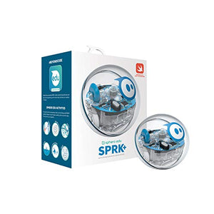 Sphero SPRK+: App-Enabled Robot Ball with Programmable Sensors + LED Lights - STEM Educational Toy for Kids - Learn JavaScript, Scratch & Swift