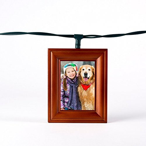 Polaroid 5 Photo Frame Lightboxes - Warm Cinnamon Wood Frame