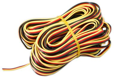 Hitec RCD Inc. Servo Wire: 50' 3-Color Heavy Gauge, HRC54804
