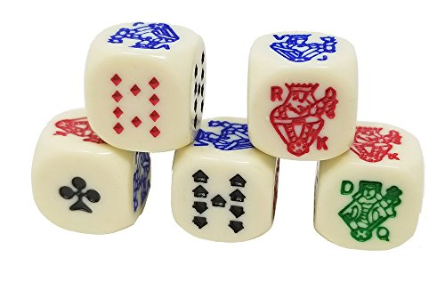 DA VINCI 6 Sided Poker Dice