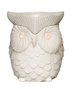 Scentsy Warmer, Whoot, White Glowing Owl Full-size Premium Warmer