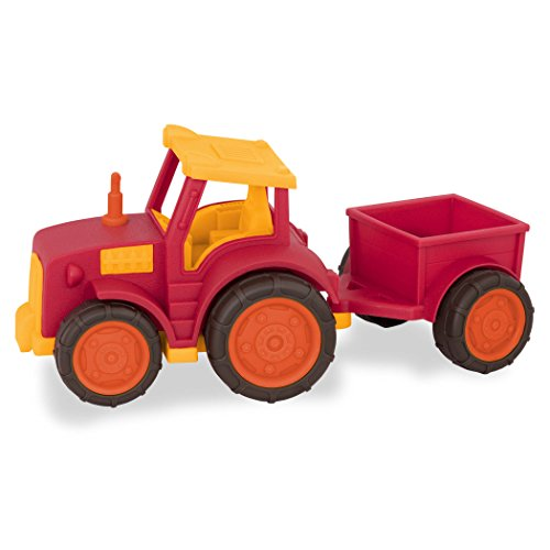 Wonder Wheels by Battat – Tractor & Trailer – Toy Tractor & Trailer Combo for Toddlers Age 1 & Up (2 Pc) – 100% Recyclable, Model:VE1018Z