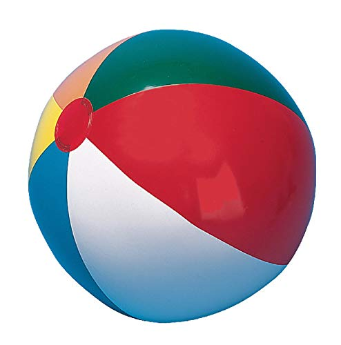 Champion Sports 16 in Heavy-Duty Beach Ball , Multi Color , Assorted Sizes - IB16