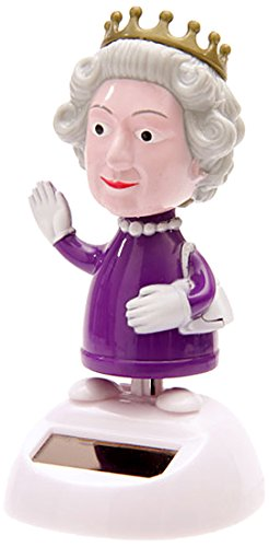Puckator FF30 Solar-Powered Dancing Queen Ornament, 8 cm L x 8 cm W x 10 cm H, Purple