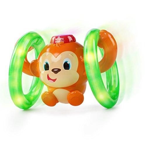 Roll & Glow Monkey Toy with Lights and Melodies
