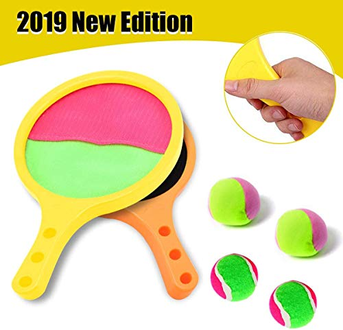 Yehtta Outdoor Toys for 3-8 Year Old Boys Toss & Catch Game Racket Set Tennis Baseball Summer Game Sand & Beach Toys for Kids Christmas Birthday Gifts